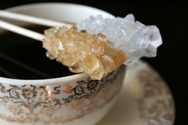 Rock candy, which is composed of sugar crystals, is one of the oldest forms of candy. It is exciting for children to make, because the progress of the crys