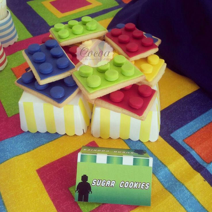 Lego party cookies