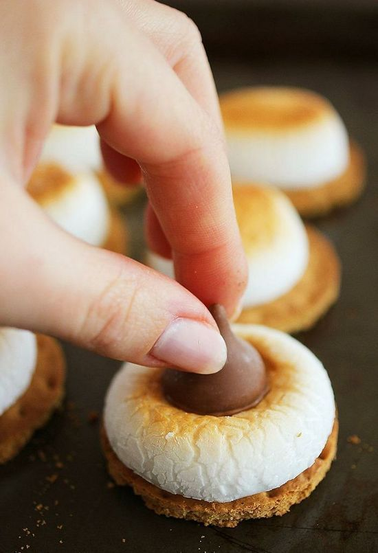 3-Ingredient S'mores Cookie Bites. For parties, snacking, or even just a fun project with the kids or friends, these simple s'mores bites totally hit the spot.