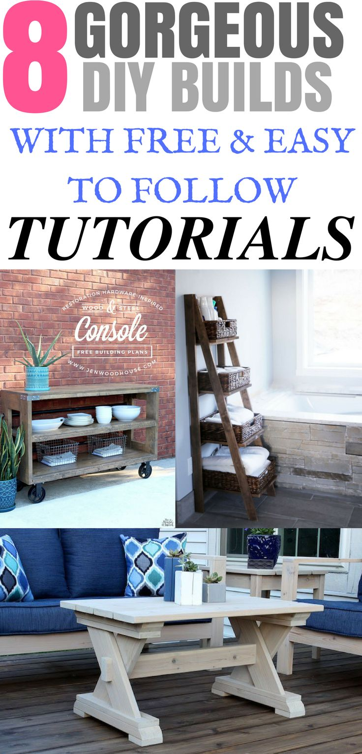 These 8 Gorgeous DIY Builds are awesome! The tutorials are easy to follow and pe...