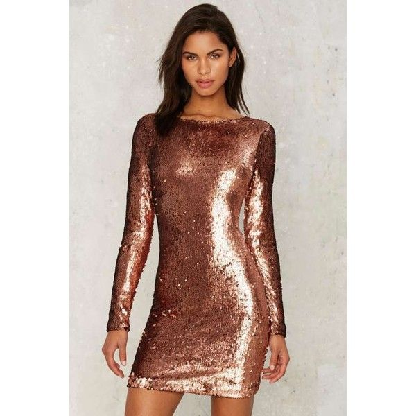 1000  ideas about Brown Sequin Dresses on Pinterest  Metallic ...