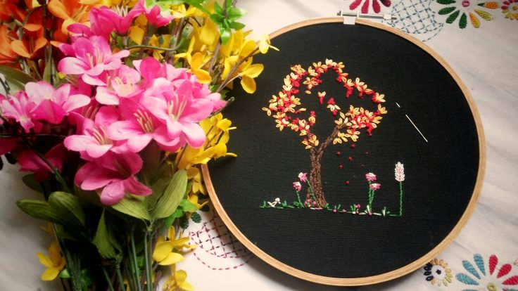 Embroidery .. summer tree. .
