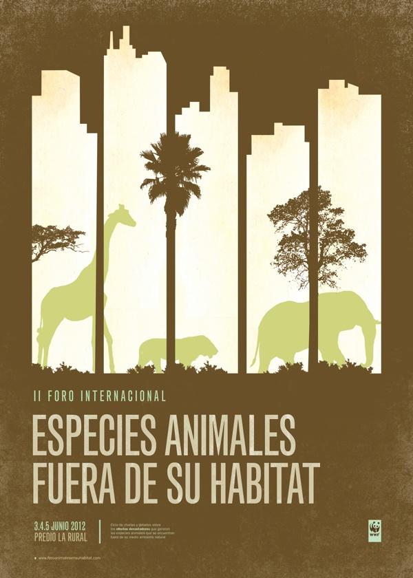 Especies fuera de su hábitat - Sistema de afiches por Aixa Aztarbe
