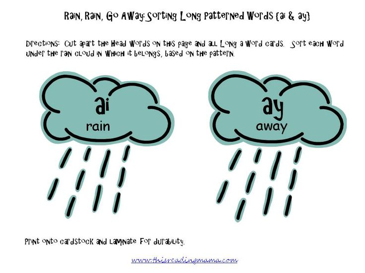 Free Long A Patterned Word Sort Ai And Ay Reading