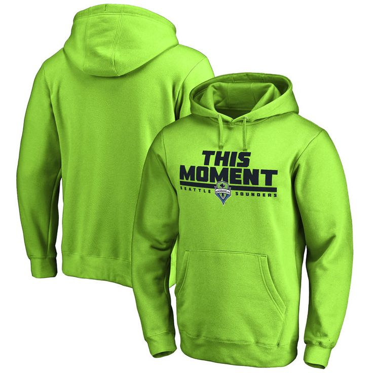 Seattle Sounders FC This Moment Pullover Hoodie - Neon Green