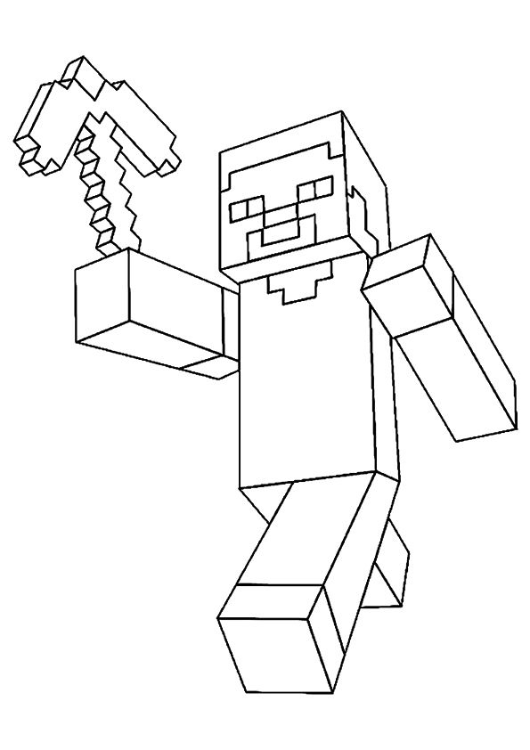 Coloring Page Minecraft Coloring Pages Minecraft Printables Minecraft Drawings