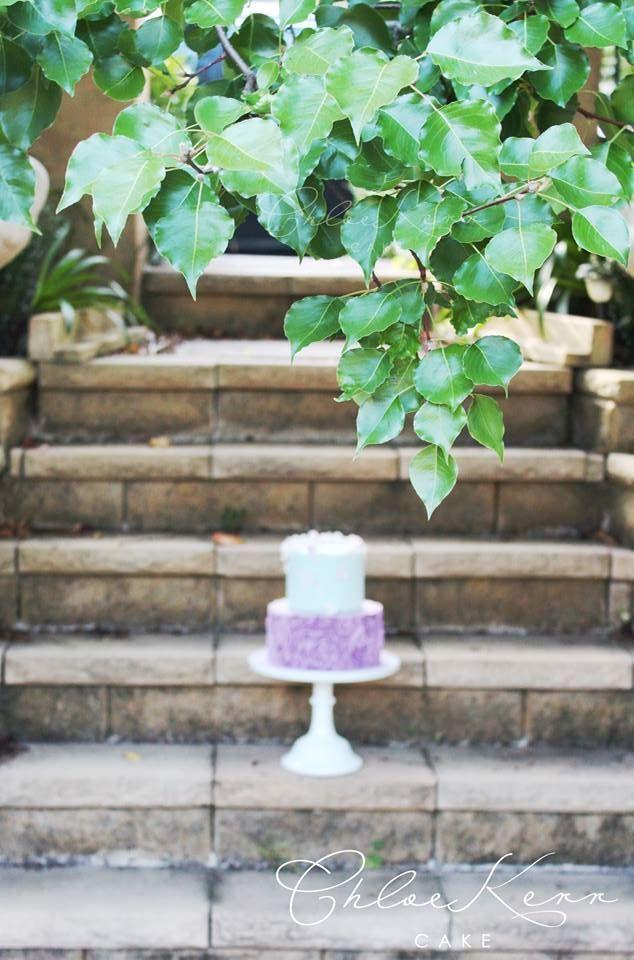Chloe Kerr Cake ruffle cake lilacs mint green