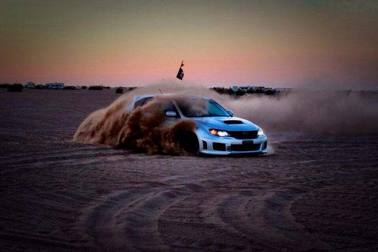 Subaru Impreza WRX (possibly STi, can't see) being put to good use!