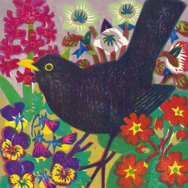 Spring Blackbird By Matt Underwood In 2020 Card Art Black Bird