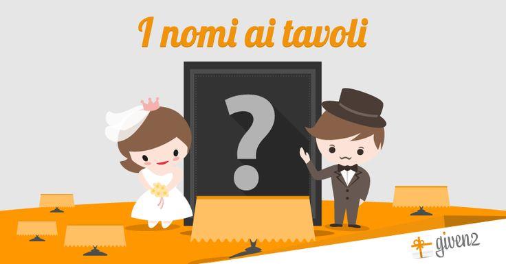 Quanti Nomi per i Tavoli di Matrimonio!! In questo post una guida con tante idee per aiutarvi a scegliere. Tanti temi e spunti originali degli ultimi 2 anni
