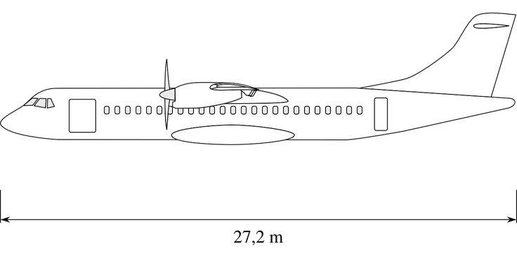 Atr 72 Aircraft Sideview Drawing transparent image