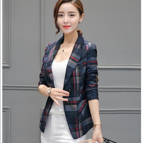 Elegant Casual Plaid Blazer *Plus Available* #casual #elegant #blazer #cardigan #plussize