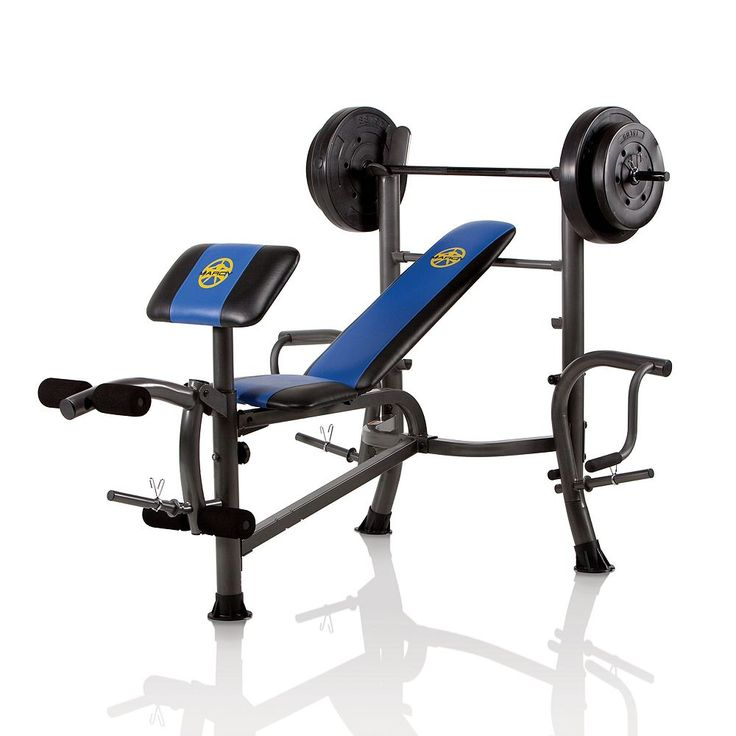 Marcy OPP Weight Bench and 80-lb. Weight Set, Multicolor
