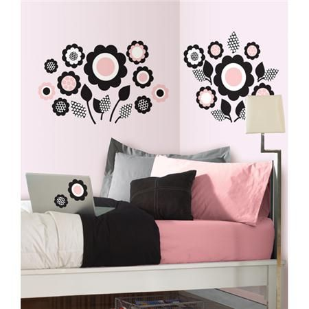 Purple Floral MiniPops by WallPops! Set your dorm room apart with the cutest college decor!