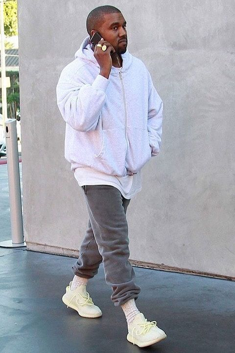 Kanye West Steps Out On Black Friday In Unreleased Yeezy Boost 350 V2 Kanye West Yeezy Fashion