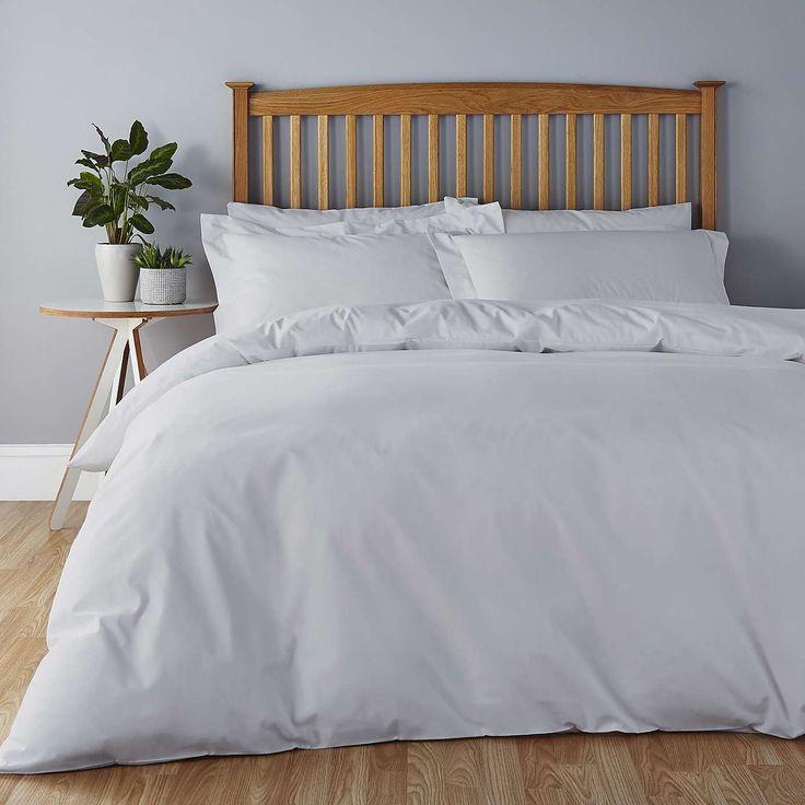 Easycare Dove Grey Bed Linen Collection | Dunelm