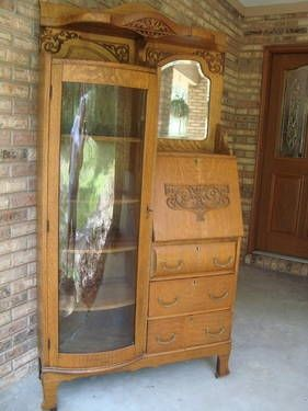 Antique Curio Cabinets 1920 S Antique Oak Side By Side