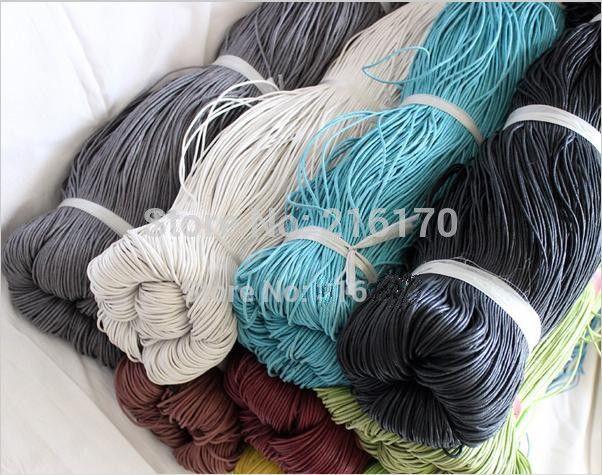 FREE SHIPPING Wholesale Bag  Acce Multicolour ZAKKA wax hemp rope twiner wax cord handmade linen multicolour 1.5mm 100 meter/lot