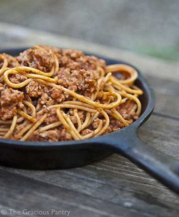 **Pinning this recipe so I have access to a whole website with clean eating recipes!!** clean eating skillet spaghetti