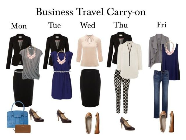 """""""Business Travel Carry-on Working Week Outfits"""" by packingforthejourney ❤ liked on Polyvore featuring Linea, Hobbs, Kate Spade, Gap, Warehouse, Forever New, Helmut Lang, GUESS, Reiss and Levi's"""
