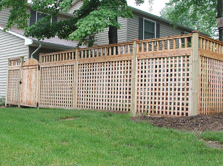 Lattice privacy fence ideas wood square lattice fence for Lattice privacy fence ideas