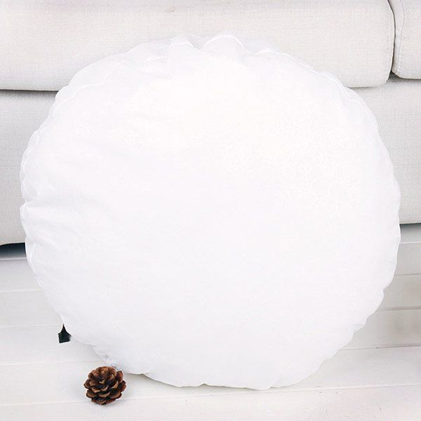 $10.55 High Quality Round Comfortable Cushion Filling Pillow Inset - White