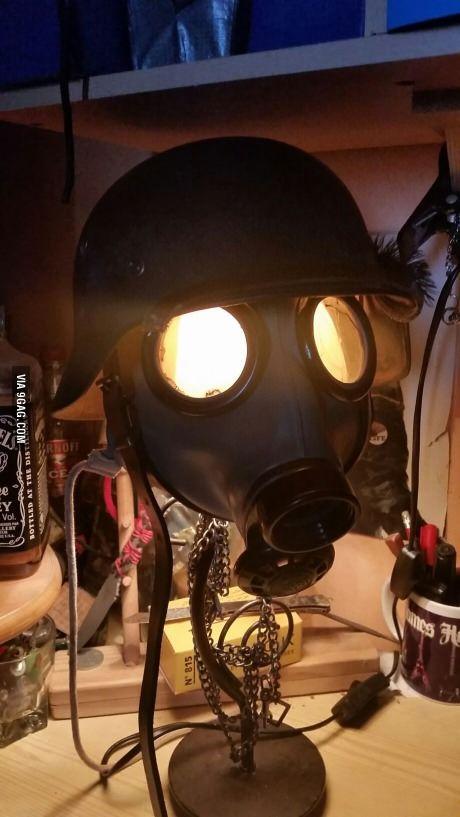 My new homemade lamp. Hope you like it guys!
