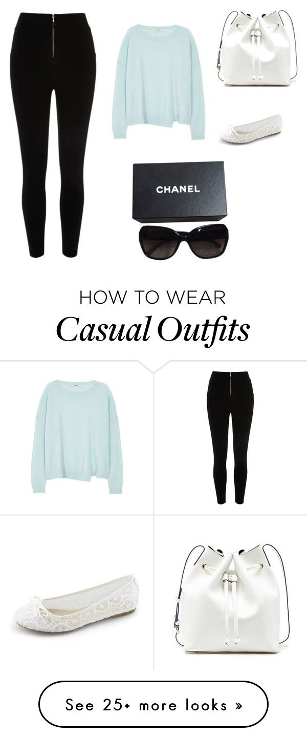"""casual n cute"" by annemarie77 on Polyvore featuring J Brand, Sole Society, Chanel, women's clothing, women, female, woman, misses and juniors"