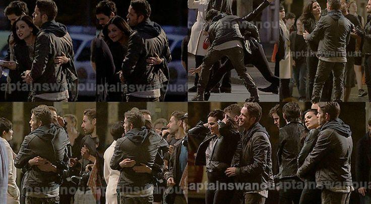 Sean & Lana goofing around on set (July 17, 2015)