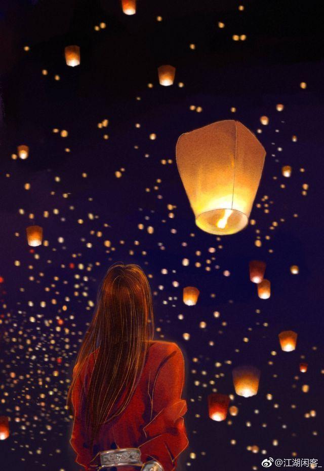 Night Japanese Lantern Wallpaper Chinese Anime