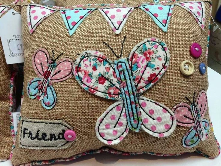 No link from original pinner but this butterfly cushion is great inspiration for so many DIY Craft projects.