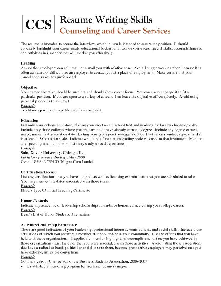 Professionalresume In 2020 Resume Skills Job Resume Examples Cover Letter For Resume