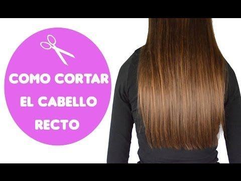 Cómo cortar el cabello recto / how to cut straight hair - YouTube