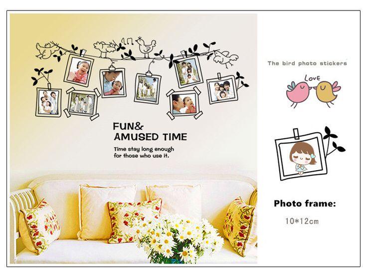 Простая жизнь творческий мультфильм рамы для картин птица стены для детей номеров декор-mail