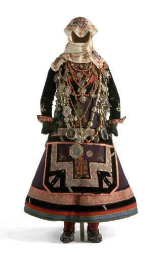 Folk costume of La Alberca, Spain. 17th-19th century.