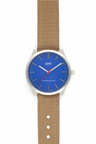 Azure Face with Sand Canvas Watch Band