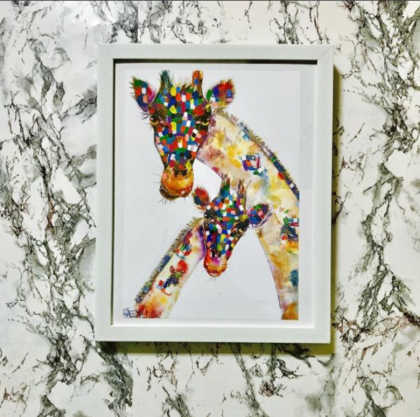 Thanks for tagging us on Instagram, @jeanrose87    Digital Prints now available - http://traceykeller.com/product-category/digital-prints/  Repost:  My #traceykeller digital print!! . . . . . . . . . . . . . . . #giftideas #giraffes #african #longneck #animals #colours #artwork #igart #ig #print #wallart #walldecor #gift #art #artsandcrafts @traceykellerartist #giraffelove #decor #arty
