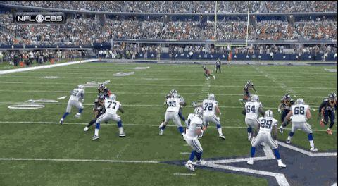 GIF: Tony Romo has his Johnny Manziel moment against Broncos : Gamedayr