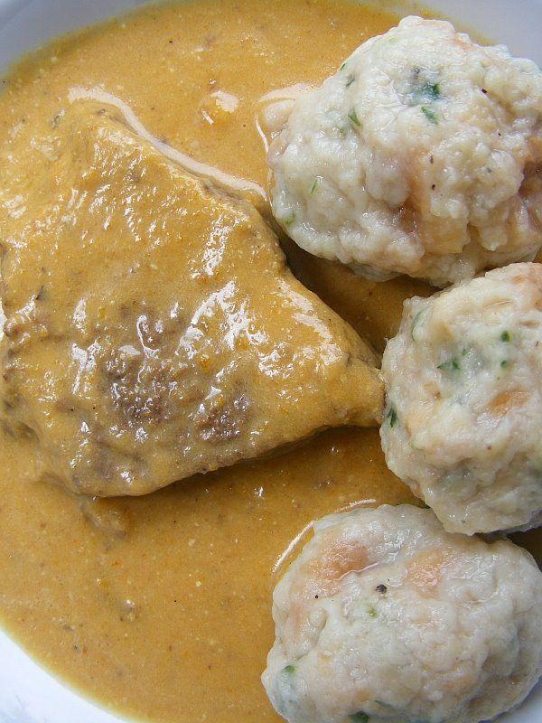 "lúdanyó: Vadas marha zsemlegombóccal - look at those "" Dumplings"" ..with Gravy, ohmydrool."