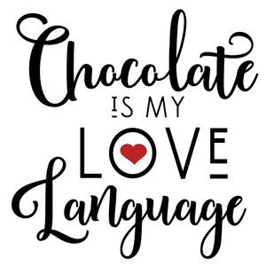 Download Chocolate my love language   Love languages, Silhouette ...