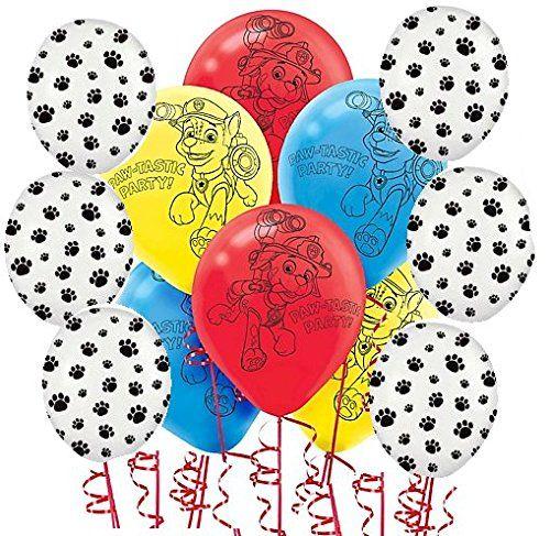 Paw Patrol Party Balloons - http://www.kidsdimension.com/paw-patrol-balloons/