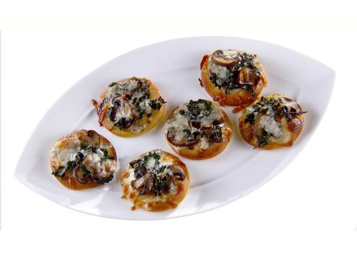 Roasted Mushroom and Kale Pizzette recipe from Giada De Laurentiis via Food Network