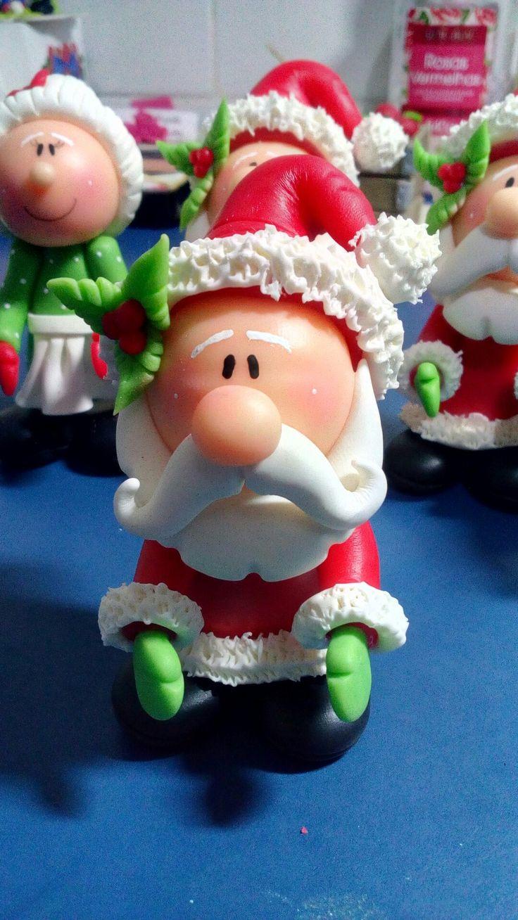 Papai Noel em biscuit...Criarte artesanatos