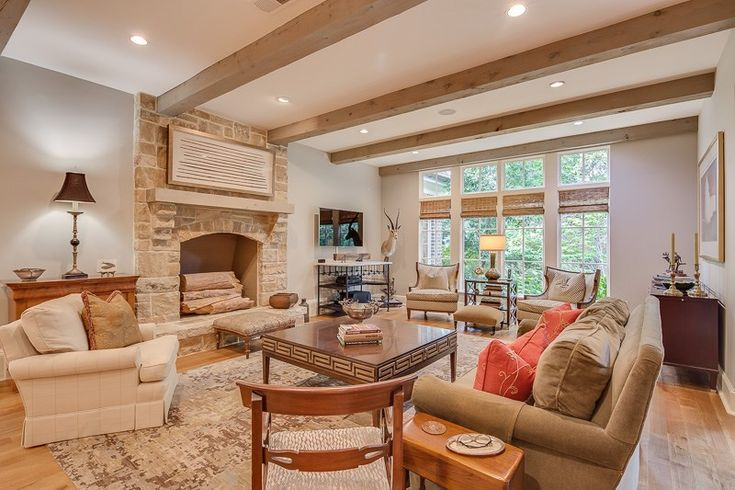 This fireplace provides a stunning focal point for the living room at 2349 Mont Alban Cv, Germantown, TN 38139