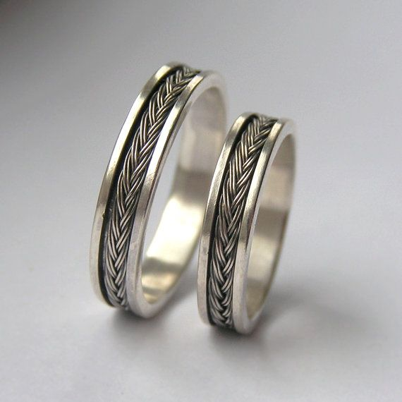 Fish Tail - Sterling Silver Wedding Band - unisex and made to order in your size by Anna Rei