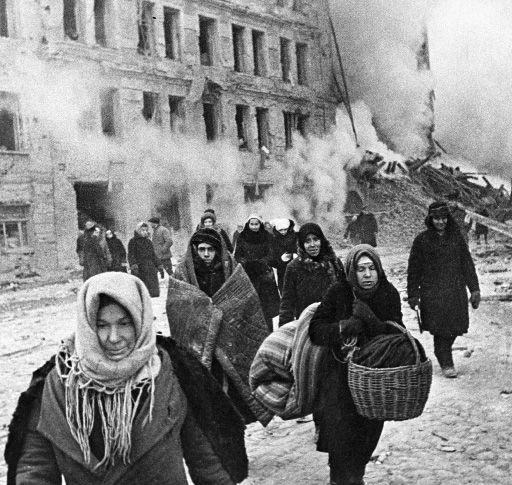 The Siege of Leningrad started on 8 September 1941, when the last land connection to the city was severed, and lasted until 27 January 1944 -- 872 days after it began. It was one of the longest and most destructive sieges in history and overwhelmingly the most costly in terms of casualties. By the end of the siege, some 632,000 people are thought to have died with nearly 4,000 people from Leningrad starving to death on Christmas Day, 1941.