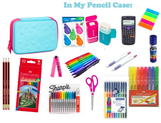What 39 s in my pencil case after school snacks pinterest for Innendekoration studium