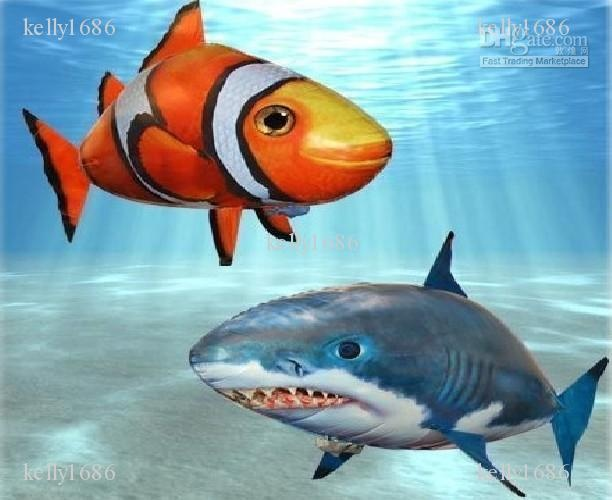Radio control flying fish fun air swimmers extreme for Air swimming fish