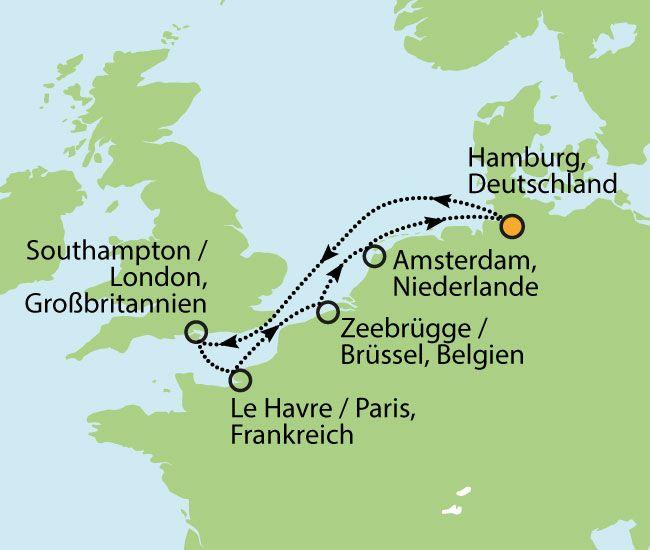 Kreuzfahrt entlang die Metropolen Nordeuropas - 8 Tage Vollpension schon ab € 599,-!