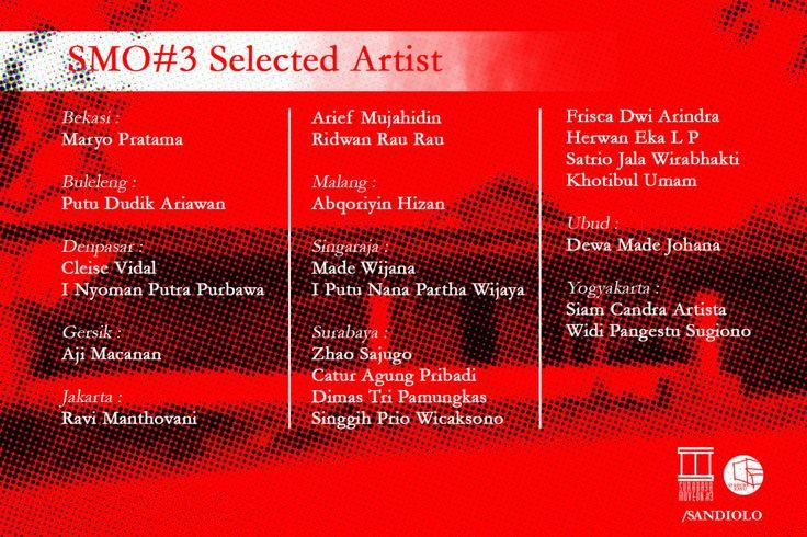 selected artist nigh saya SURABAYA MOVE ON #3 CUBISM of IDEALISM | 16-26 Maret 2016 | /SANDIOLO, Jl. Gempol Balas Klumprik no.01, Wiyung, Surabaya | 60222 | surabayamoveon@gmail.com
